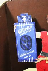 A Large Gillette Dispenser Cut Out Show Card