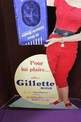 A Large Gillette Dispenser Cut Out Show Card