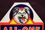 All In One Kennel Meal Near Mint Tin Sign