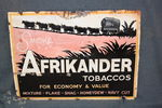 Antique Afrikander Tobaccos Enamel Sign.