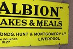 Antique Albion Farming Enamel Advertising Sign