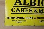 Antique Albion Farming Enamel Advertising Sign
