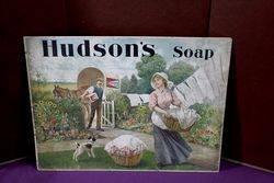Antique Hudsons Soap Shop Adv, Card.