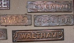 Antique Metal House Name Plates