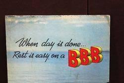 BBB Mattress Pictorial Advertising Showcard