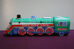 Battery Operated Puff Puff Loco Tin Toy Train.#