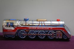 1950's Battery Operated Silver Mountain Express A. Train Engine