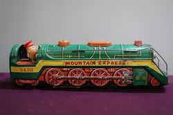 Battery Operated  Vintage Tin Litho Mountain Express  Train #3430