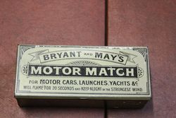 Bryant And May`s Motor Matches Tin With Contents