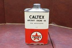 Caltex Aircraft Engine Oil Sealed Tin