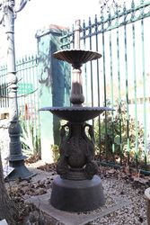 Cast Iron 2 Tier Ibis Fountain
