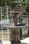 Cast Iron Heron Water Fountain And Fiber Glass Pond