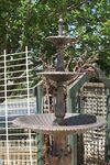 Cast Iron Heron 3 Tier Water Fountain .