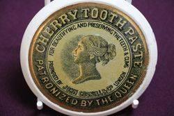 Ceramic Cherry Toothpaste  Pot Lid