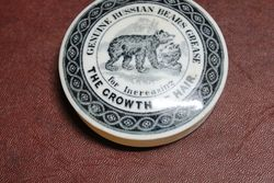 Ceramic Russian Bears Grease Pot Lid
