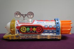 Colorful Battery Operated Tin Toy Space Express
