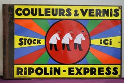 Couleurs & Vernis  Double Sided  Enamel Advertising Sign