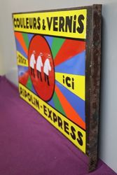 Couleurs and Vernis  Double Sided  Enamel Advertising Sign