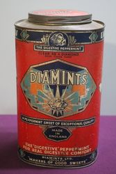 Diamints Peppermint Tin in Original Condition