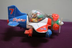 Yoshiya KO Japan 60's battery operated Aeroplane Fighter. #