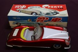 Friction Drive Sports Car Tin Toy