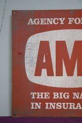 Genuine AMP Insurance Tin Advertising Sign
