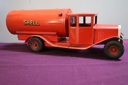Genuine Tri-Ang Tin Plate Shell Oil Tanker