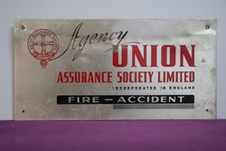 Genuine Union Assurance Aluminum Sign
