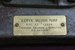 Geryk Vacuum Pump By Thomason Skinner And Hamilton Glasgow