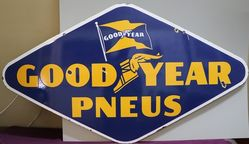 Goodyear Penus Double Side Enamel Advertising Sign