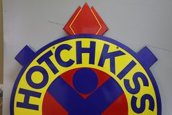 Hotchkiss Service Double Side Enamel Advertising Sign