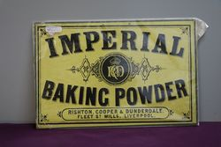 Imperial Baking Powder Cardboard Advertising Sign