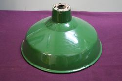 Industrial Green Enamel Light Shade