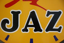 Jaz Clock Double Side Enamel Advertising Sign