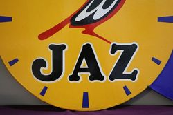 Jaz Clock Double Sided Enamel Advertising Sign