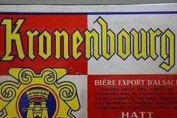 Kronenbourg Beer Enamel Advertising Sign