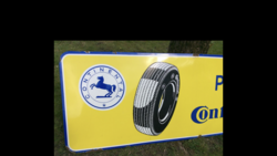 Large Continental Tyre+39s Enamel Advertising Sign