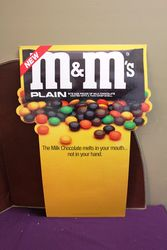Large M&Ms Advertising Card