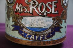 Large Mrs Rose Pictorial Coffee Tin