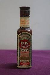 """Rare C1915 Mason's """"O.K"""" Sauce Bottle. #"""
