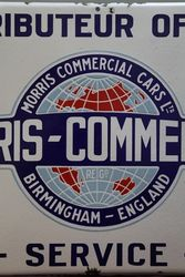 Morris Commercial Cars Service Enamel Advertising Sign