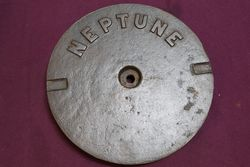 Embossed Neptune Cast Iron Tank Cover