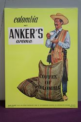 Original Colombia Anker's Aroma Coffee Advertising Card