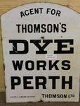 Perth Dye Works Double Sided Enamel Sign