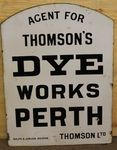 Perth Dye Works Double Sided Enamel Sign. #
