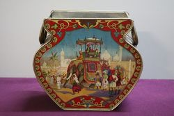 Antique Victorian Pictorial Tea Tin
