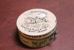 Properts Leather And Saddle Soap Tin
