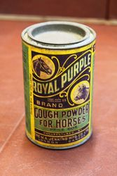 Royal Purple Cough Powder For Horses Tin