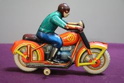Russian Made Bike With Rider
