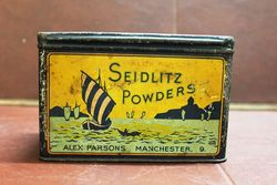 Seidlitz Powders Advertising Tin